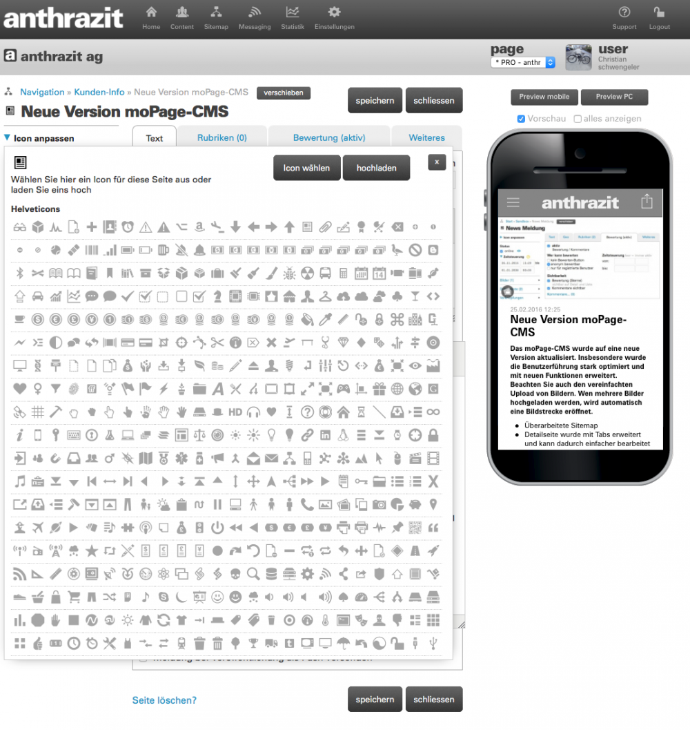 Icons für Seiten einfach anpassen oder mit eigenen Icons ergänzen (2/6)